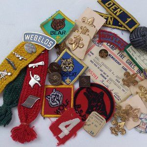 1950s Camp Fire Girl/Cub Scout Lot Collectables